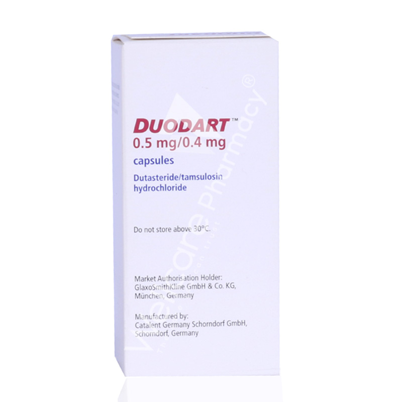 Duodart 0 5mg 0 4mg Capsules 30 S Wellcare Online Pharmacy Qatar Buy Medicines Beauty Hair Skin Care Products And More Wellcareonline Com