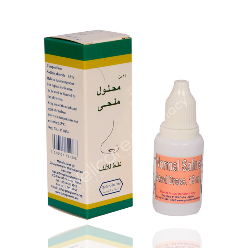 Pharmanormal Saline Nasal Drops 15ml Wellcare Online Pharmacy Qatar Buy Medicines Beauty Hair Skin Care Products And More Wellcareonline Com